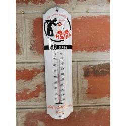 Thermomètre bombé émaillé