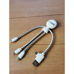 """Cable de charge écologique """"Mr BIO"""" HAFA"""
